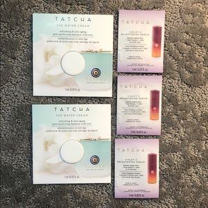 Tatcha water cream and violet-c brightening serum